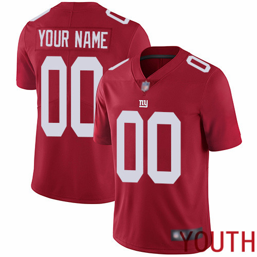 Youth New York Giants Customized Red Alternate Vapor Untouchable Custom Limited Football Jersey