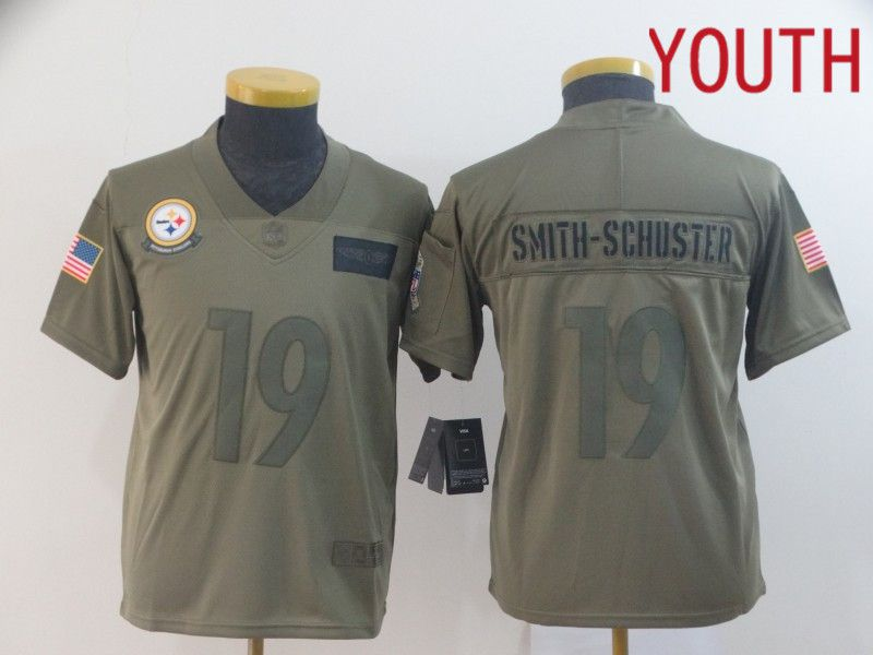Youth Pittsburgh Steelers 19 Smith-schuster Nike Camo 2019 Salute to Service Limited NFL Jerseys