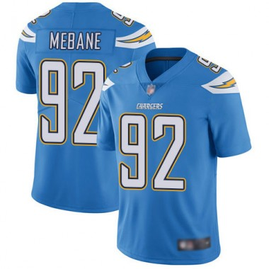 Los Angeles Chargers NFL Football Brandon Mebane Electric Blue Jersey Men Limited 92 Alternate Vapor Untouchable