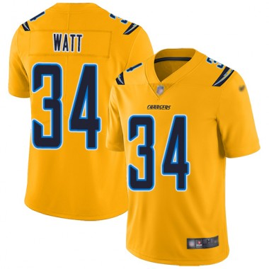 Los Angeles Chargers NFL Football Derek Watt Gold Jersey Men Limited 34 Inverted Legend