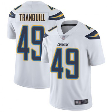 Los Angeles Chargers NFL Football Drue Tranquill White Jersey Men Limited 49 Road Vapor Untouchable