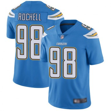 Los Angeles Chargers NFL Football Isaac Rochell Electric Blue Jersey Men Limited 98 Alternate Vapor Untouchable