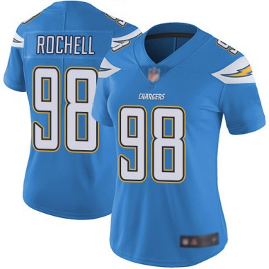 Los Angeles Chargers NFL Football Isaac Rochell Electric Blue Jersey Women Limited 98 Alternate Vapor Untouchable