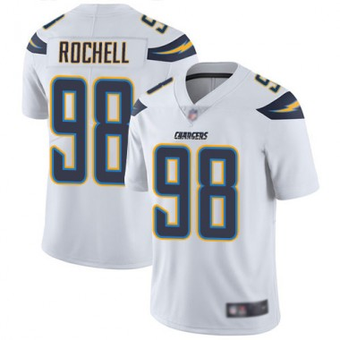 Los Angeles Chargers NFL Football Isaac Rochell White Jersey Men Limited 98 Road Vapor Untouchable