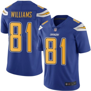 Los Angeles Chargers NFL Football Mike Williams Electric Blue Jersey Men Limited 81 Rush Vapor Untouchable