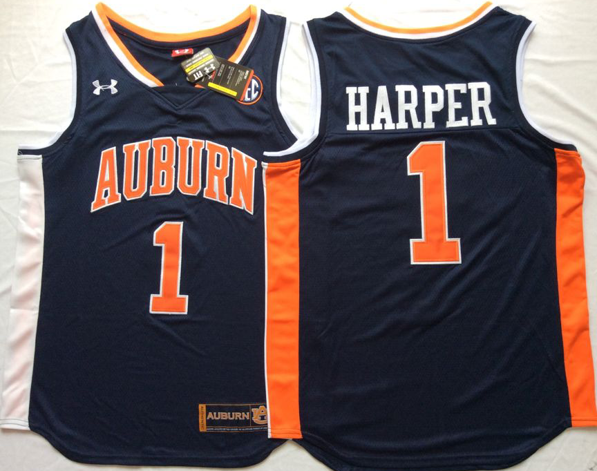 NCAA Men Auburn Tigers Blue 1 HARPER