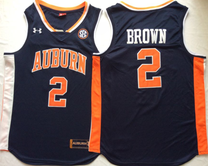 NCAA Men Auburn Tigers Blue 2 BROWN