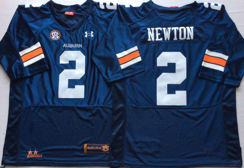 NCAA Men Auburn Tigers Blue 2 NEWTON