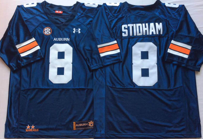 NCAA Men Auburn Tigers Blue 8 STIDHAM