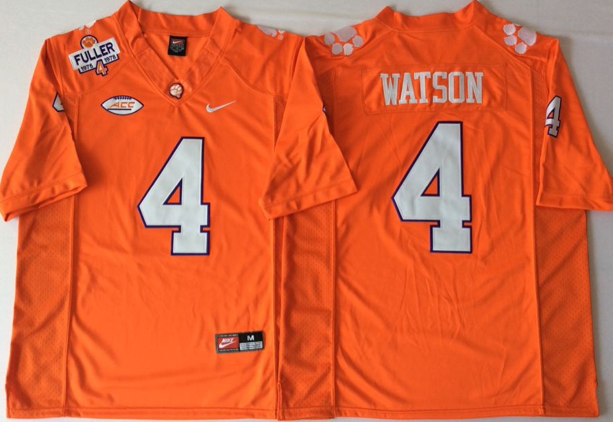 NCAA Men Clemson Tigers Orange 4 WATSON
