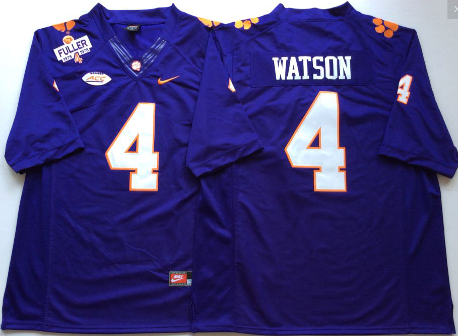 NCAA Men Clemson Tigers Purple 4 WATSON