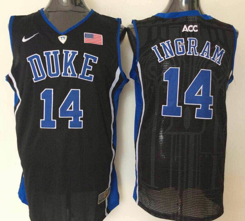 NCAA Men Duke Blue Devils 14 Ingram Black