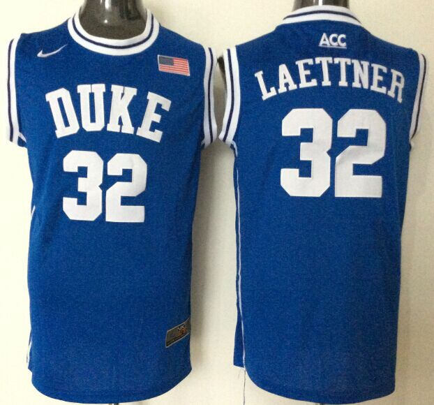 NCAA Men Duke Blue Devils 32 laettner blue style 2