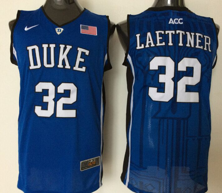 NCAA Men Duke Blue Devils 32 laettner blue.