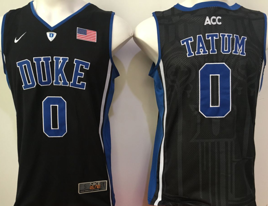 NCAA Men Duke Blue Devils Black 0 tatum blue