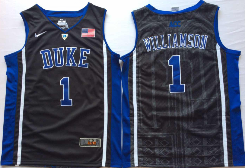 NCAA Men Duke Blue Devils Black 1 WILLIAMSON.