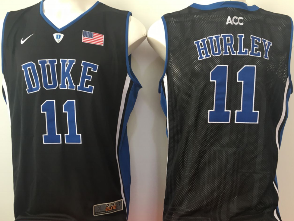 NCAA Men Duke Blue Devils Black 11 hurley blue
