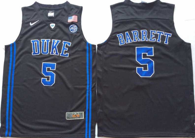 NCAA Men Duke Blue Devils Black 5 BARRETT