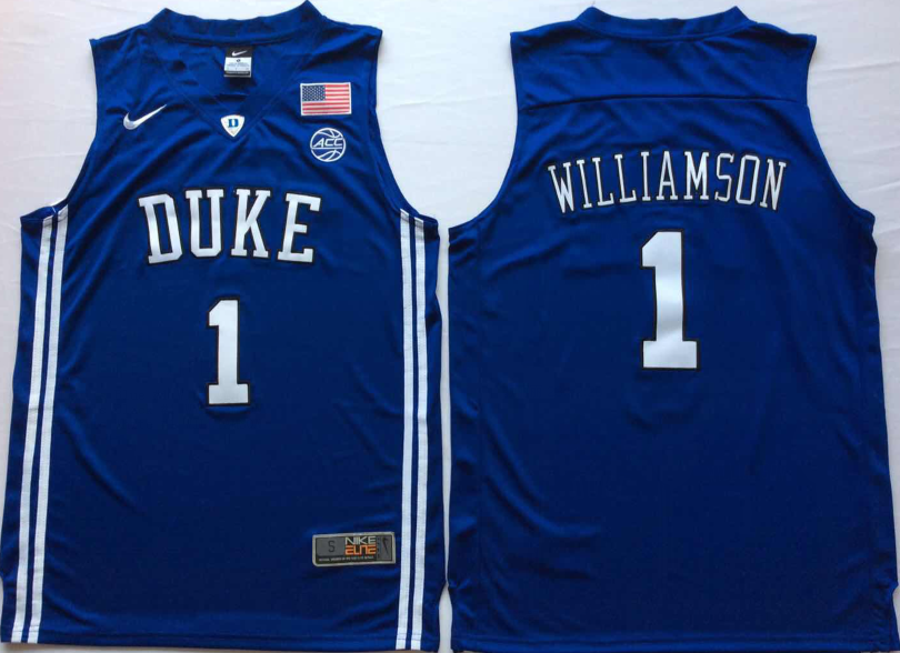 NCAA Men Duke Blue Devils Blue 1 WILLIAMSON.