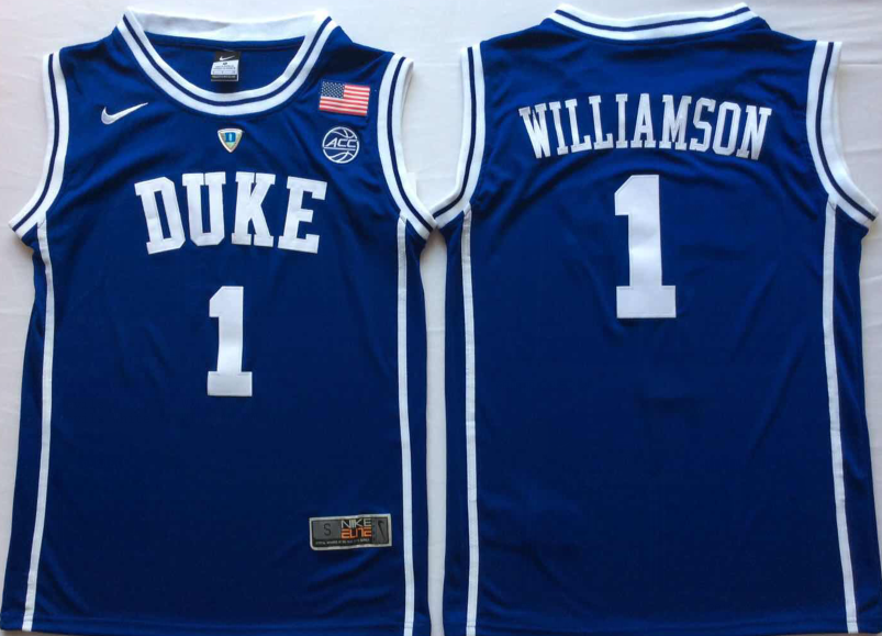 NCAA Men Duke Blue Devils Blue 1 WILLIAMSON