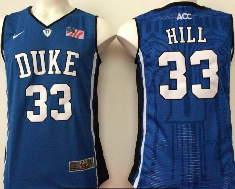 NCAA Men Duke Blue Devils Blue 33 hill