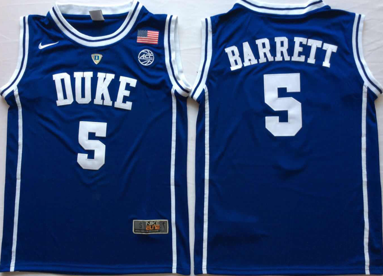 NCAA Men Duke Blue Devils Blue 5 BARRETT