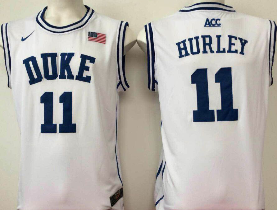 NCAA Men Duke Blue Devils White 11 hurley