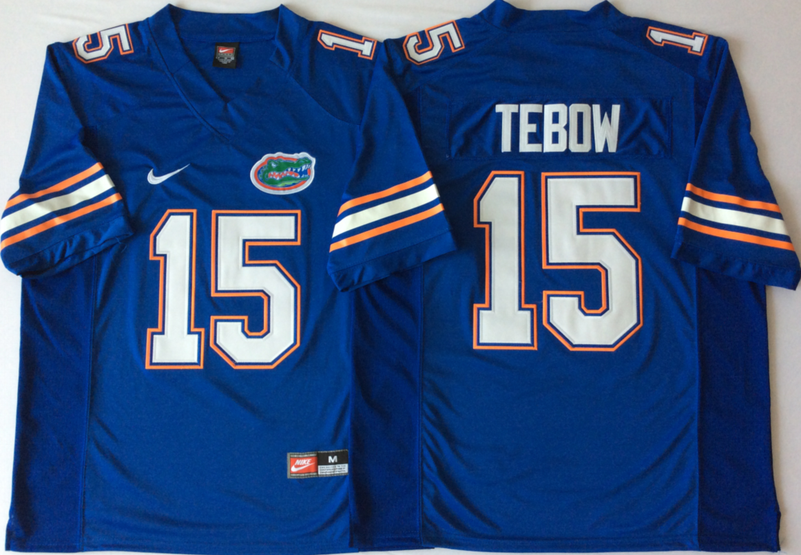 NCAA Men Florida Gators Blue 15 TEBOW