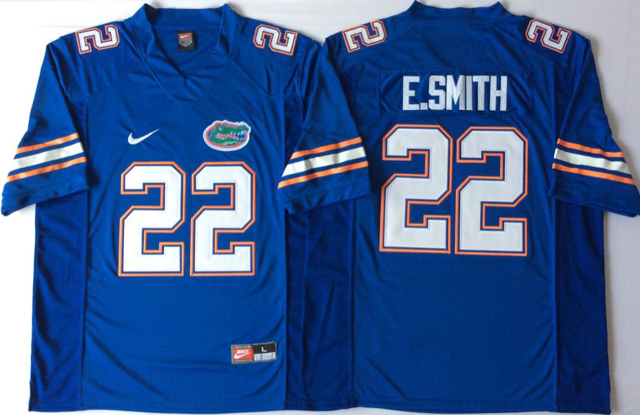 NCAA Men Florida Gators Blue 22 E.SMITH