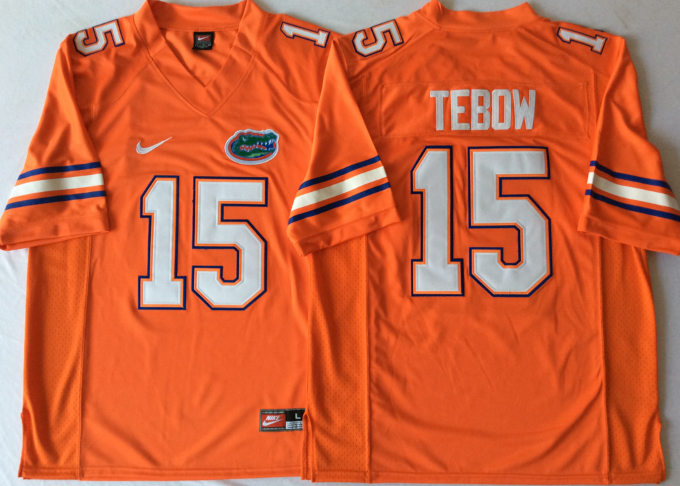 NCAA Men Florida Gators Orange 15 TEBOW