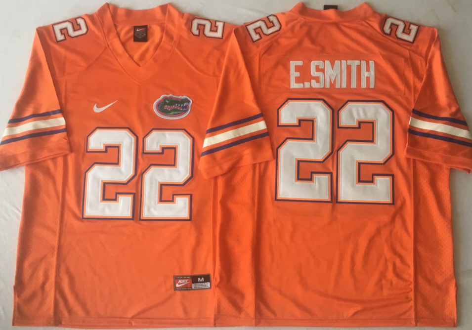 NCAA Men Florida Gators Orange 22 E.SMITH