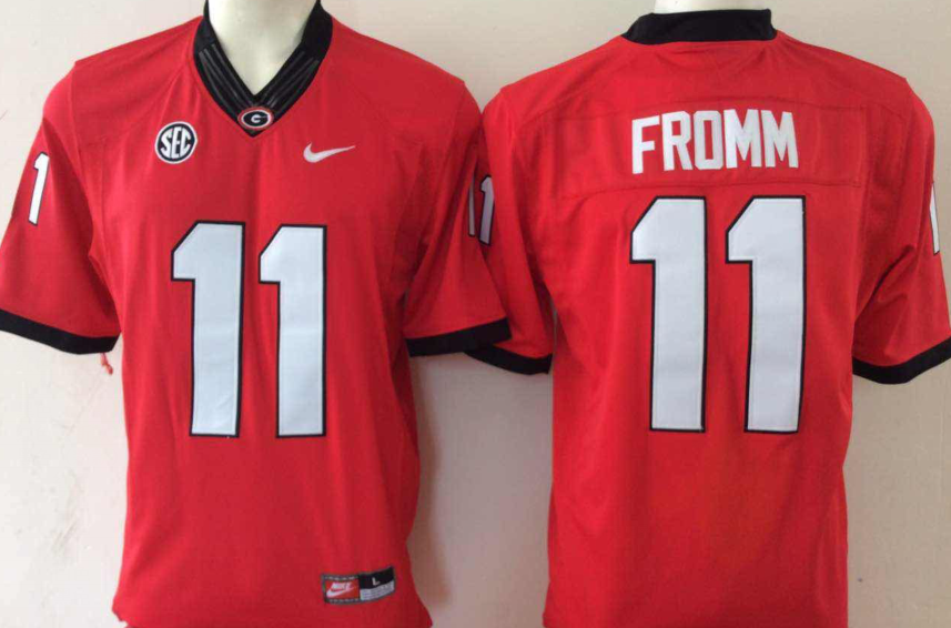 NCAA Men Georgia Bulldogs 11 Red fromm