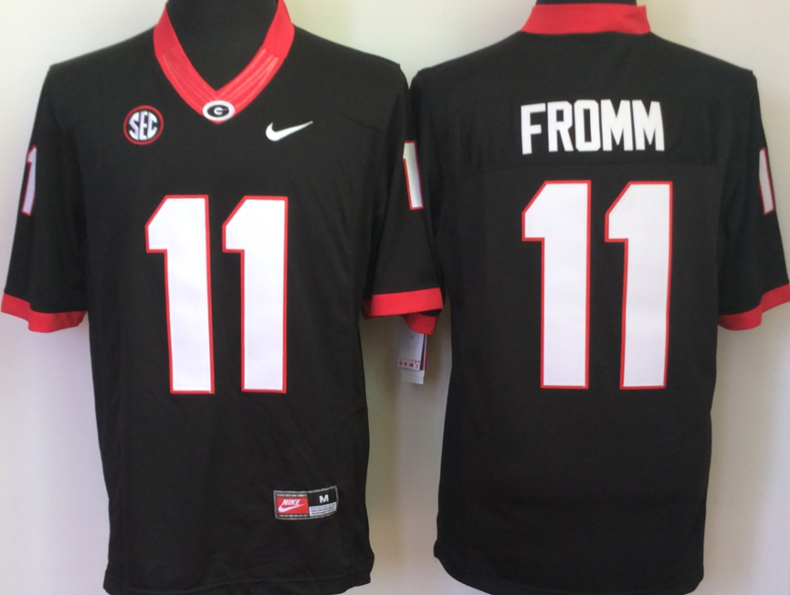 NCAA Men Georgia Bulldogs Black 11 FROMM