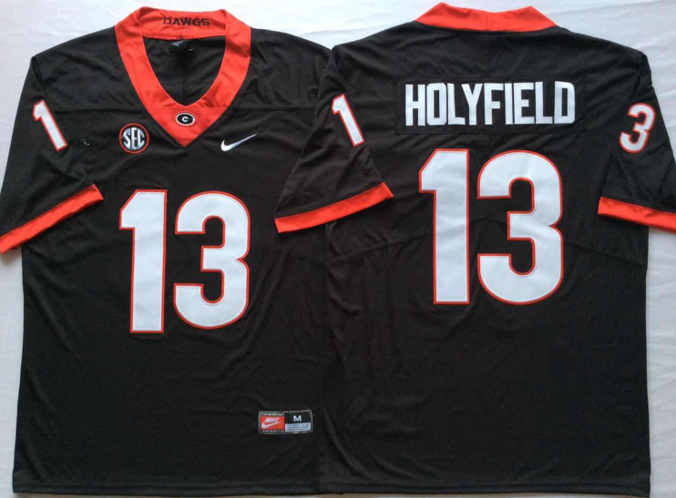 NCAA Men Georgia Bulldogs Black 13 HOLYFIELD