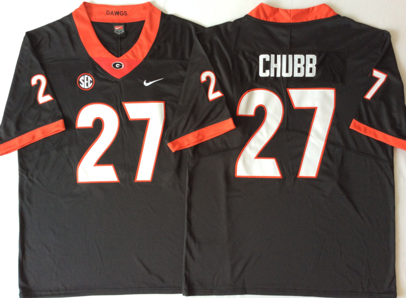 NCAA Men Georgia Bulldogs Black 27 CHUBB