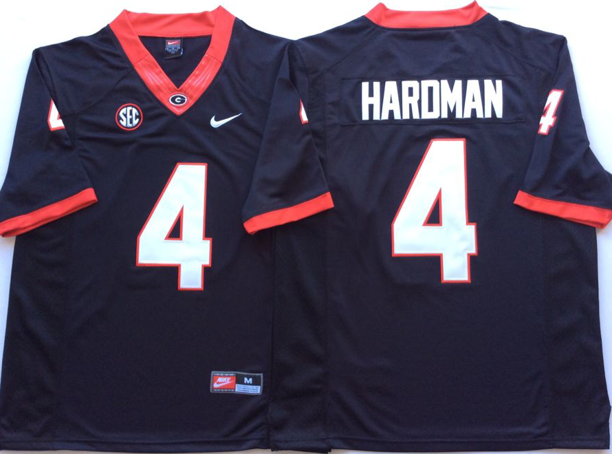NCAA Men Georgia Bulldogs Black 4 HARDMAN