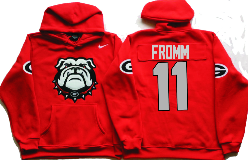 NCAA Men Georgia Bulldogs Red 11 FROMM