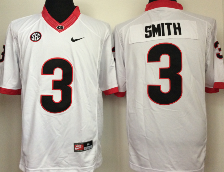 NCAA Men Georgia Bulldogs White 3 smith style 2