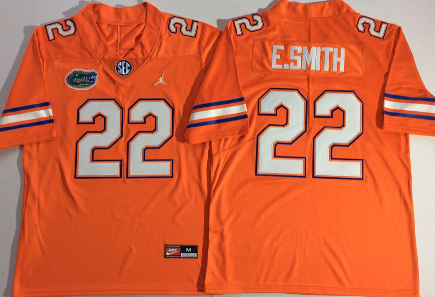 NCAA Men Jordan Florida Gators Orange 22 E.SMITH