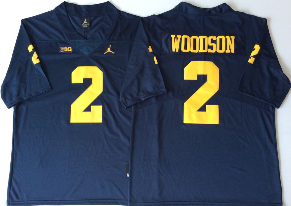 NCAA Men Michigan Wolverines Blue 2 WOODSON