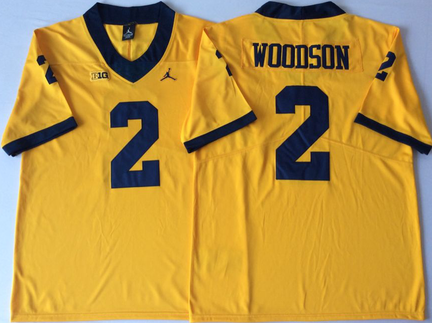 NCAA Men Michigan Wolverines YELLOW 2 WOODSON