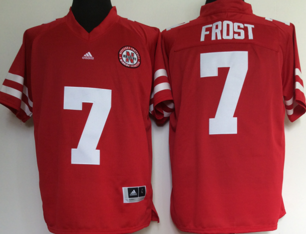 NCAA Men Nebraska Huskers Red 7 FROST