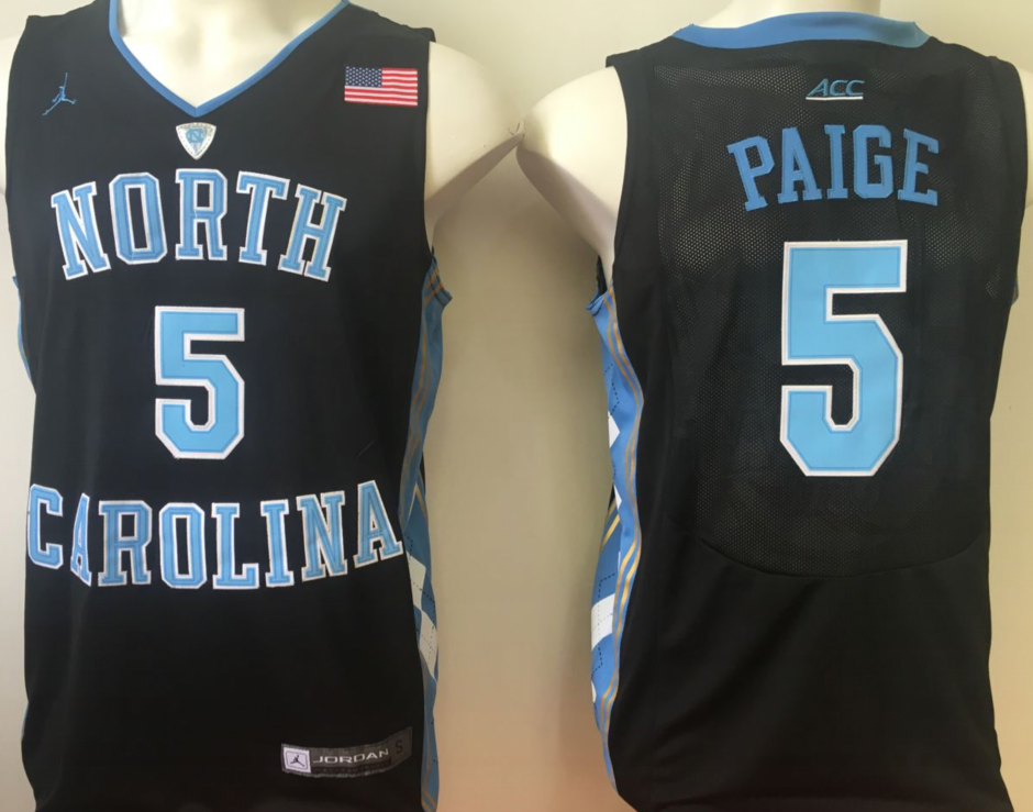 NCAA Men North Carolina Tar Heels Black 5