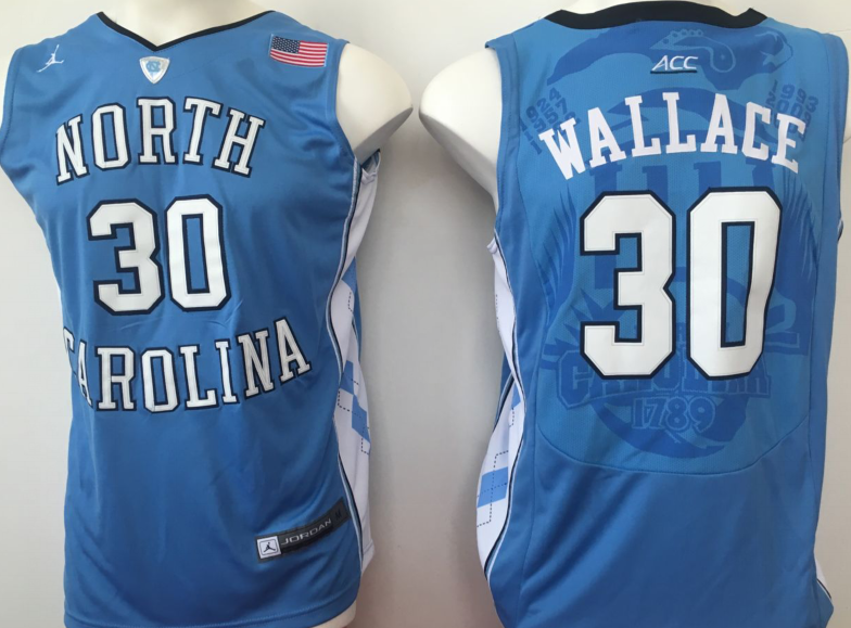 NCAA Men North Carolina Tar Heels Blue 30