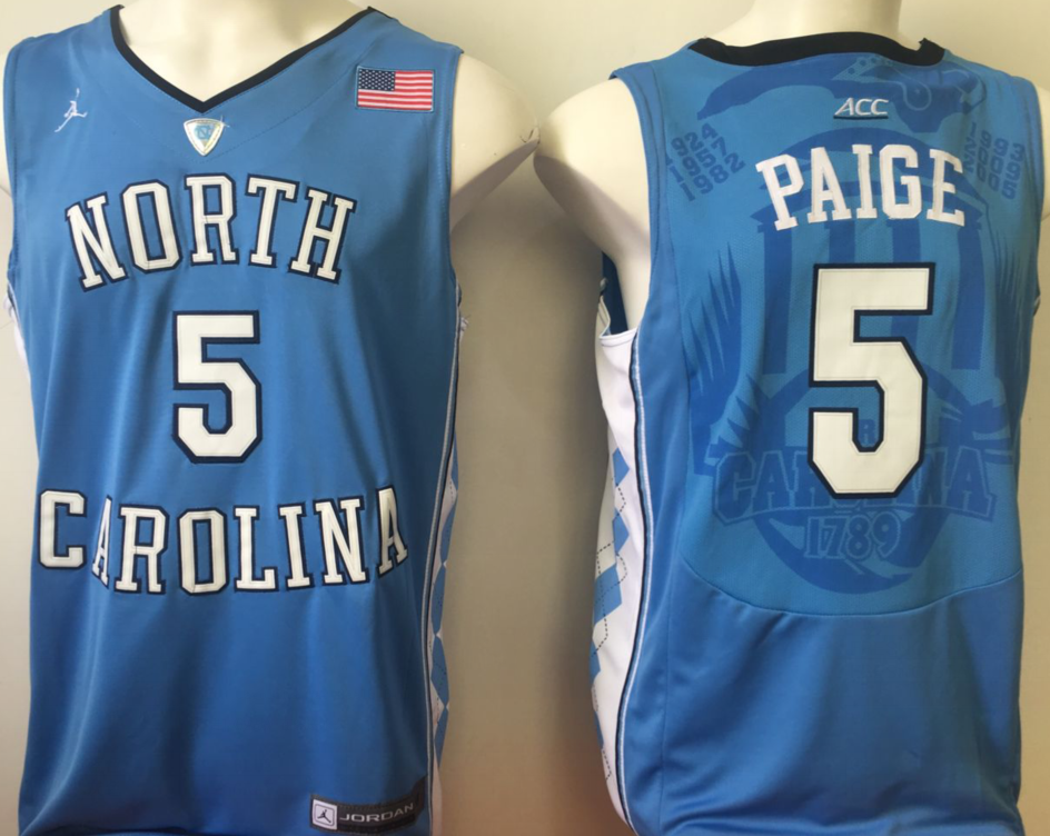 NCAA Men North Carolina Tar Heels Blue 5