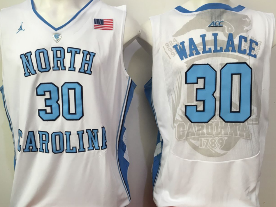 NCAA Men North Carolina Tar Heels White 30