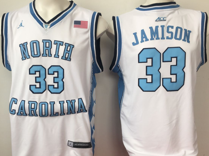 NCAA Men North Carolina Tar Heels White 33