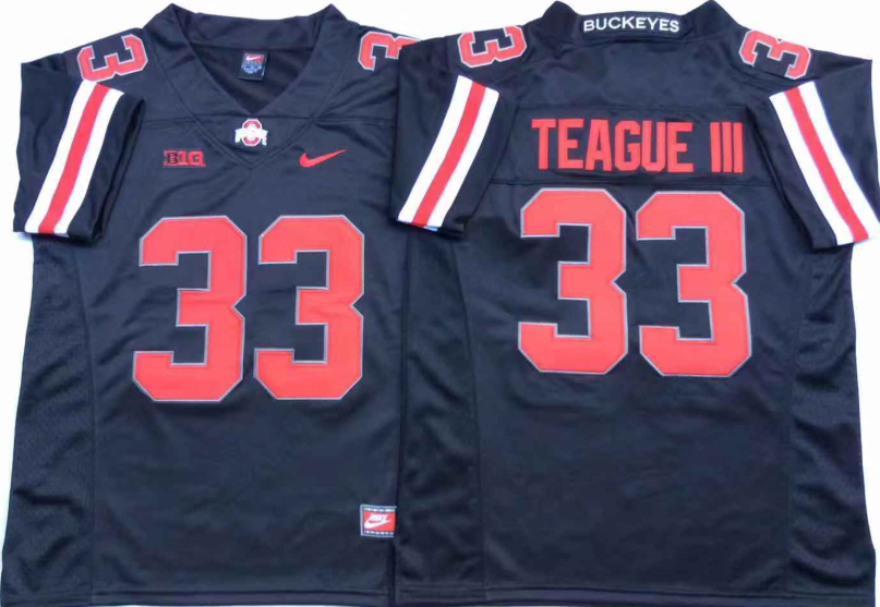 NCAA Men Ohio State Buckeyes Black 33 TEAGUE III