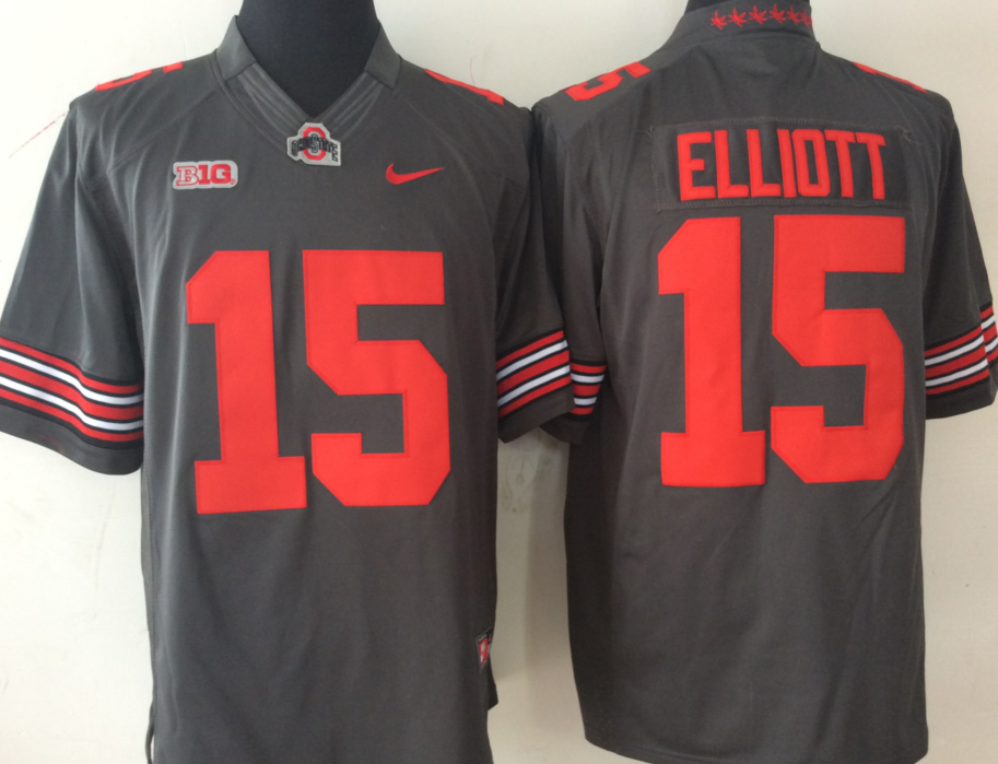 NCAA Men Ohio State Buckeyes GRAY Limited 15 ELLIOTT