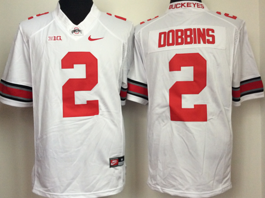 NCAA Men Ohio State Buckeyes White 2 dobbins